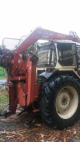 Forest & Harvesting Equipment Forest Tractor - Lamborghini tractor with crane and trailer