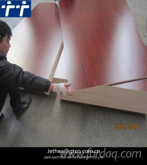 Wood-grain-melamine-laminated-plywood