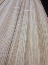 Sliced Veneer - Natural Veneer, Zingana (Zebrano, Zebrawood, Allen ele), Flat cut, plain