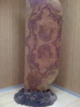 Sliced Veneer - Natural Veneer, Raiz bubinga, Burl (mappa)