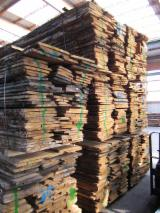 Hardwood  Unedged Timber - Flitches - Boules - European White Oak Lumber, ABC Grade