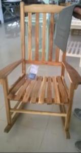 Contemporary Garden Furniture - Rocking Chair, Acacia wood