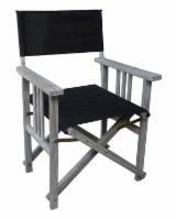 Contemporary Garden Furniture - Director chair, Acacia wood