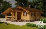 Wood Houses - Precut Timber Framing For Sale - Wooden house « Chereshnya »