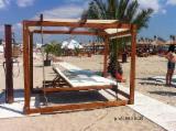 Şezlonguri De Grădină - Baldachine/ balansoare plaja din lemn - 1180 RON