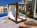 Contemporary Garden Furniture - Beach canopy loungers