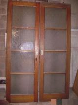 Doors, Windows, Stairs Oak European - 2 sliding glass doors in oak
