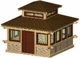 Holzhäuser - Vorgeschnittene Fachwerkbalken - Dachstuhl Zu Verkaufen - Vierkantblockhaus