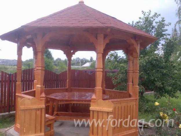 Epic a picea abies bois blancs kiosque for Como hacer un kiosco de madera