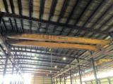MUNCK Woodworking Machinery - Used 1985 MUNCK 7.5 TON Top Running Double Girder Overhead Bridge Crane