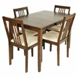 Tainted Wood Dining Room Furniture - Rubberwood Dining Room Set