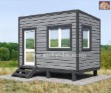 Wood Houses - Precut Timber Framing Pine Pinus Sylvestris - Redwood For Sale - Frame-panel modular home , built-up area - 9.4 sq.m.