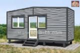 Wood Houses - Precut Timber Framing Pine Pinus Sylvestris - Redwood For Sale - Frame-panel 1- modular house building area - 14.1 sq.m.