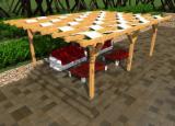 Garden Products - Fir (Abies alba, pectinata), Pergola - Arbour