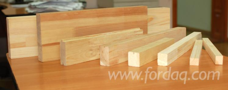 Finger-jointed elements for doors, windows and furniture production