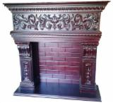 Wooden frame for fireplaces