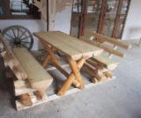 Garden Tables Garden Furniture - Garden Tables from logs, Contemporary