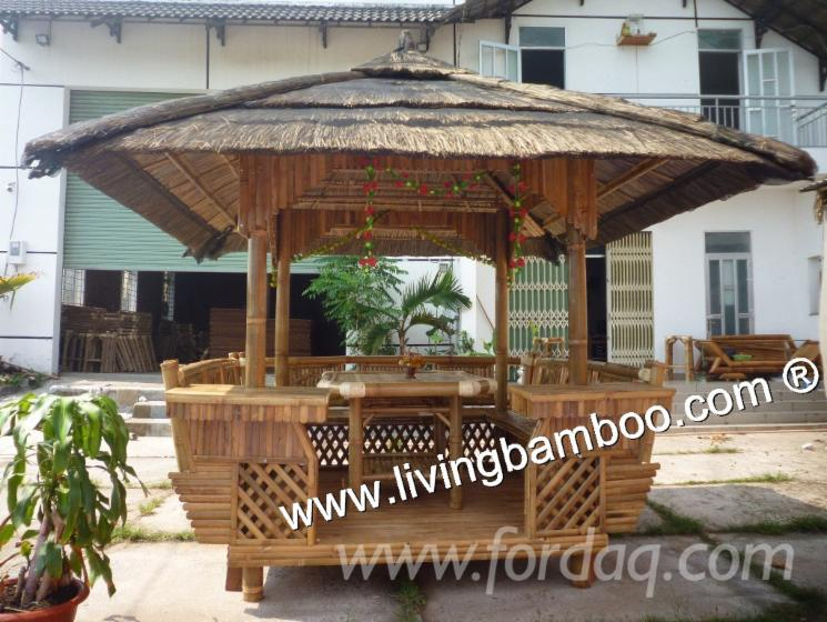 Bambou gazebo bambou mobilier d 39 ext rieur for Pergola bambou exterieur