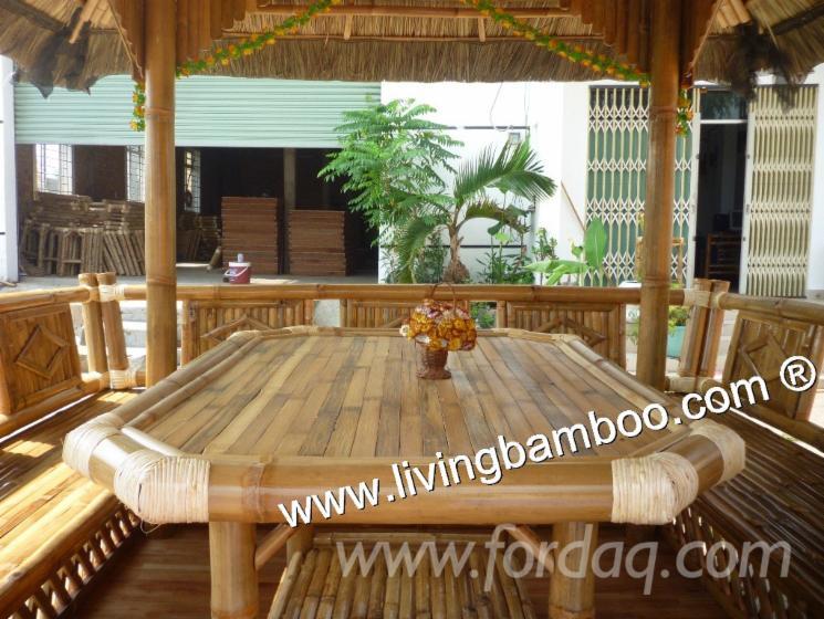Bambou gazebo bambou mobilier d 39 ext rieur for Mobilier bambou exterieur