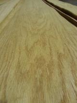 Sliced Veneer - Natural Veneer, Oak (European), Flat cut, figured