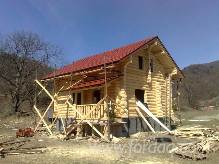 Vend fuste maisons en rondins empil s epic a bois blancs r sineux europ ens roumanie - Construction en rondins empiles ...