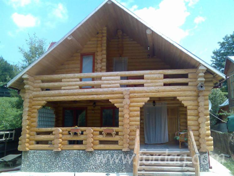 Casa di tronchi canadese abete legni bianchi resinosi for Case di tronchi ranch