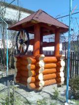 Spruce  - Whitewood Garden Wood Tile Romania