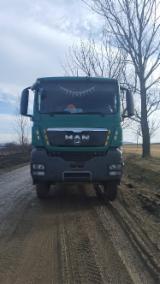 Oprema Za Šumu I Žetvu - Polovna 2011 Kamion Za Prevoz Kraćih Stabala MAN TGS 33.480 sa Rumunija