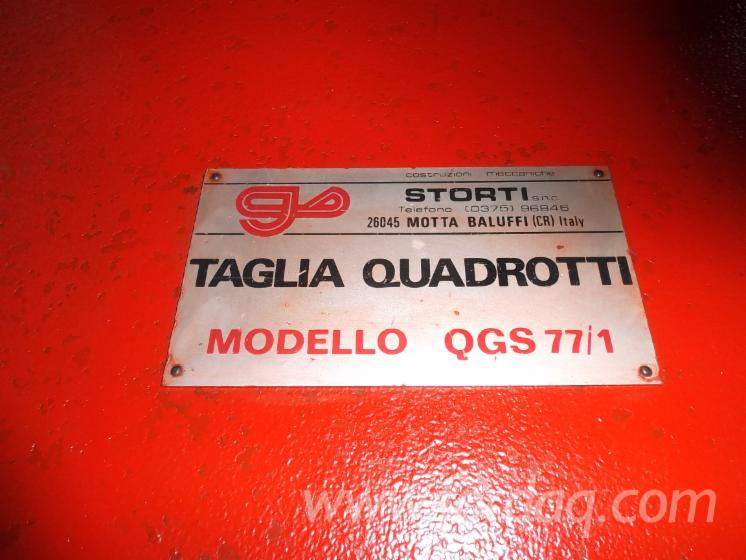 Used-1989-STORTI-QGS-77-1-Pallet-Blocks-Cutting-Machine-in