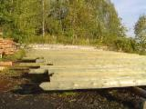 Softwood  Logs ISO-9000 For Sale - Wooden poles pressure treated (6-10m)