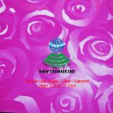 Engineered Panels China - Rose design melamine MDF slatwall