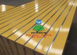 7-11 Grooved white/black/red/green/orange/yellow melamine MDF