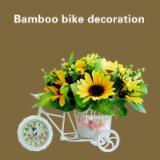 3 Color Rattan Tricycle/Bike/Basket/Clock/Flower holder