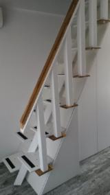 Wood Doors, Windows And Stairs - Hardwood (Temperate), Walnut (European), Stairs, Romania