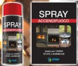 Fire aerosol starter for wood stoves fire place and barbecue