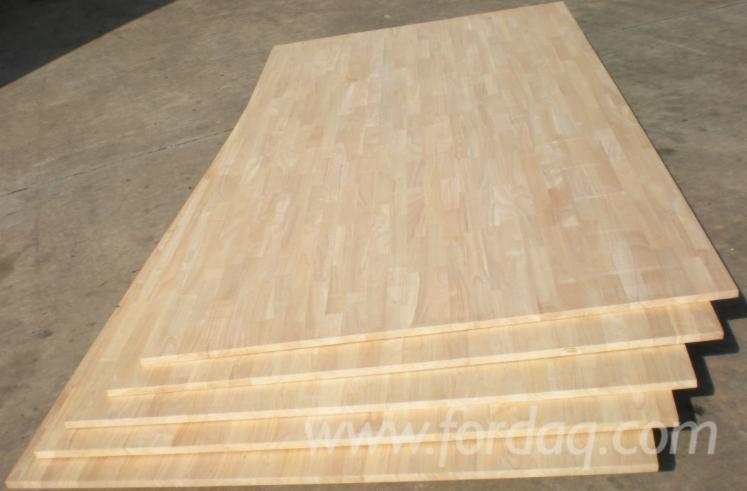 Joined Hardwood Laminated Board ~ Rubber wood finger joined laminated boards vietnamese