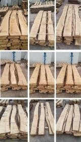 Hardwood  Unedged Timber - Flitches - Boules Lithuania - OAK Lumbers