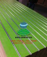 14-25mm Rose design melamine mdf slatwall for supermarket