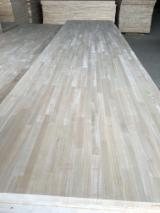 Discontinuous Stave  Solid Wood Panels - Hevea wood finger joined panels