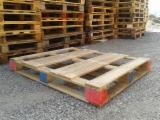 Paletten - Verpackung - Wiederaufbereitet - Gebraucht, In Guten Zustand Einwegpalette Banana Wooden Pallets Slowenien zu Verkaufen