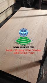 Vend Contreplaqué Décoratif (replaqué) Chêne Rouge 2.5-18 mm Chine