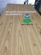 Plywood Supplies - EV Burmese teak crown cut veneered plywood or MDF