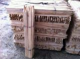 Cylindrical Trimmed Round Wood - Beech Stakes 3 cm x 3 cm x 2 m