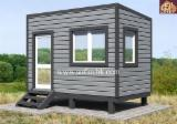 Wood Houses - Precut Timber Framing Pine Pinus Sylvestris - Redwood For Sale - Frame-panel modular house, built-up area - 9.4 sq.m.