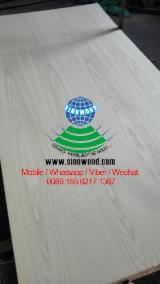 Natural American white oak veneered plywood with hardwood core, cc
