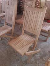 Scaune De Grădină - Vand scaune pliante din lemn stejar pentru gradina - 190 lei
