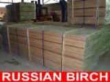 Hardwood  Sawn Timber - Lumber - Planed Timber Birch Europe - Birch Frame grade S4S (PAR) 24 x 45/70/95/120/145 x 2,4-3,0 from Russia's North-West