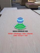 AAA, AA, A grade natural red oak veneered mdf, red oak mdf board