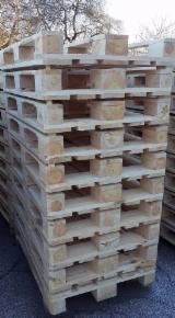 Wood New Spruce Picea Abies - Whitewood Demands - Pallet, New