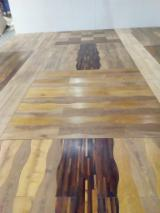 3-layer Parquet Flooring, Curvilinear, Thermo Hornbeam / Thermo Ash
